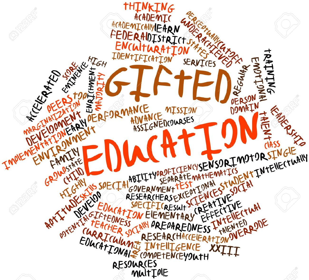 gifted education wordle