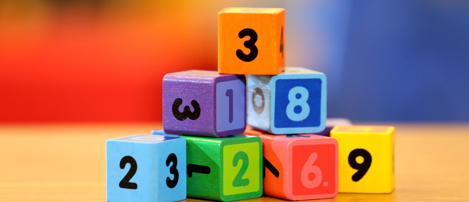 wooden number blocks used for counting